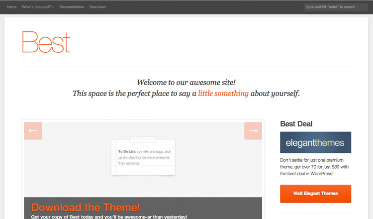 Best Free WordPress Theme 2014