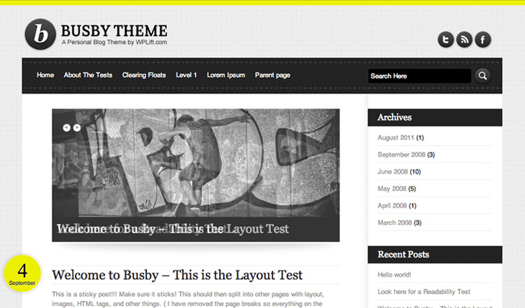 Busby - Best Free WordPress Theme 2013