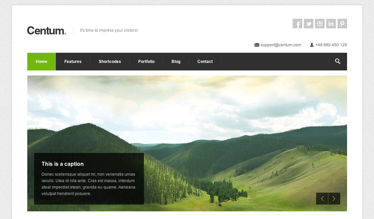 Centum - Best HTML5 WordPress Theme 2014