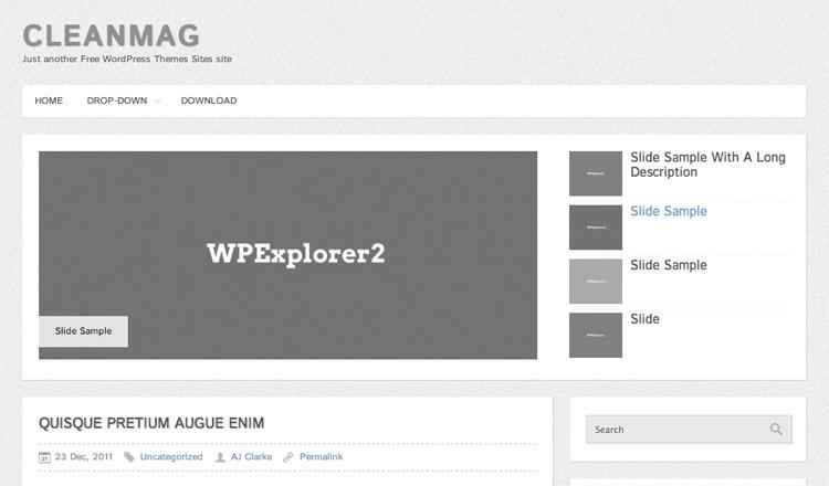 CleanMag - Best Free WordPress Theme 2013