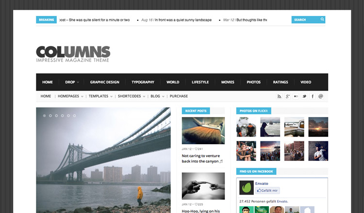 Columns - Best Magazine WordPress Theme 2013