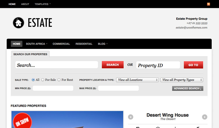 Estate - Best Real Estate WordPress Theme 2013