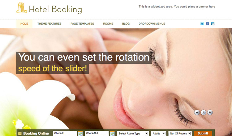 Hotel Booking - Best Real Estate WordPress Theme 2013