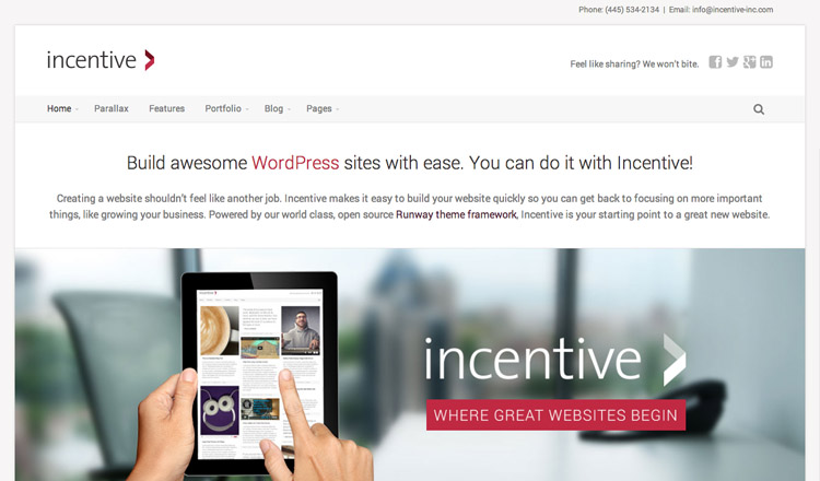 Incentive - Best Business WordPress Theme 2013