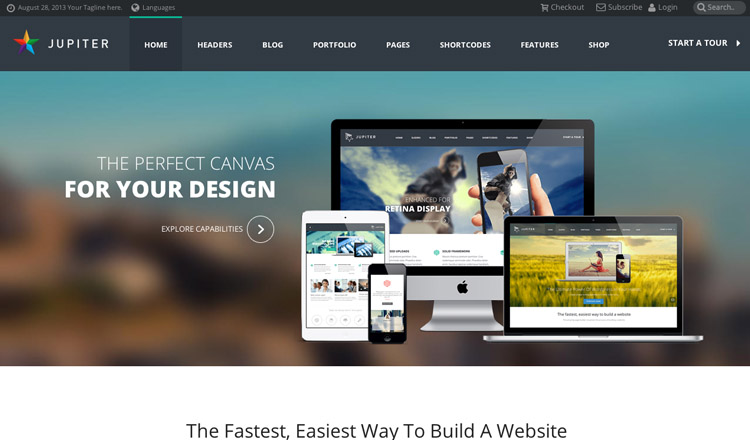 Jupiter - Best Business WordPress Theme 2014
