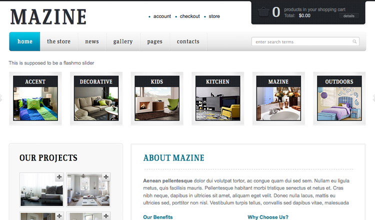 Mazine - Best Ecommerce WordPress Theme 2014