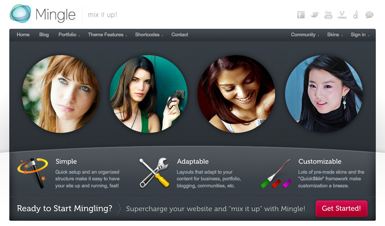 Mingle - Best BuddyPress WordPress Theme 2013