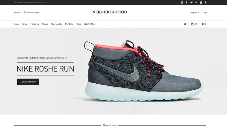 Neighborhood - Best Ecommerce WordPress Theme 2013