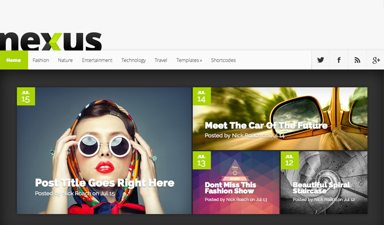 Nexus - Best Magazine WordPress Theme 2014