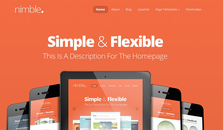 Nimble - Best Responsive WordPress Theme 2013