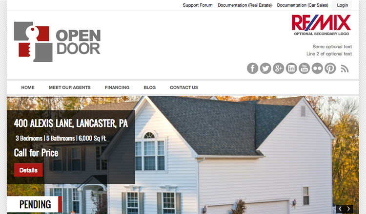 Open Door - Best Real Estate WordPress Theme 2013