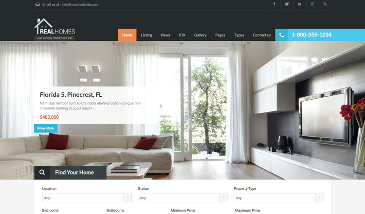 Real Homes - Best Real Estate WordPress Theme 2013