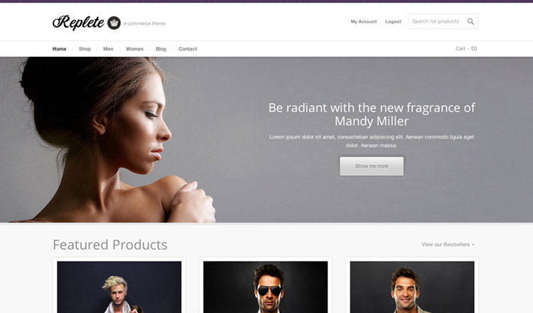 Replete - Best Ecommerce WordPress Theme 2013