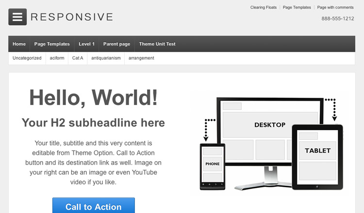 Responsive - Best Free Photography WordPress Theme 2013