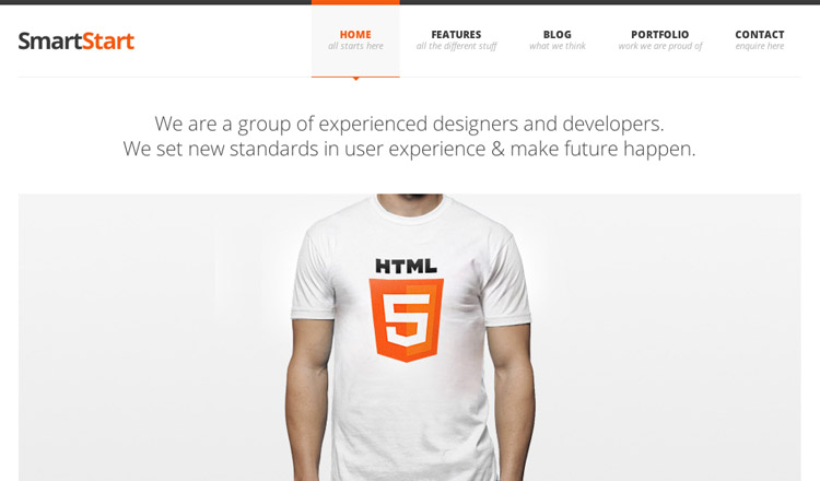 SmartStart - Best HTML5 WordPress Theme 2013