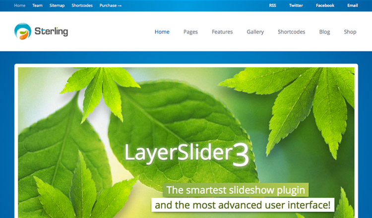 Sterling - Best HTML5 WordPress Theme 2013