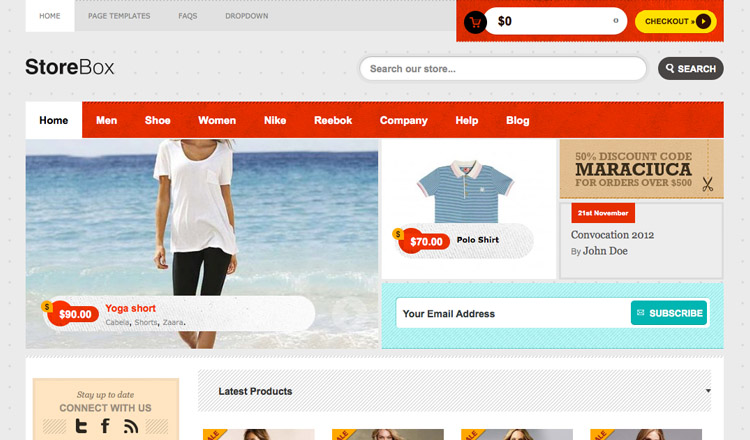 StoreBox - Best Ecommerce WordPress Theme 2013