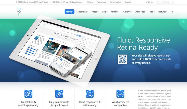 The7 - Best Responsive WordPress Theme 2013