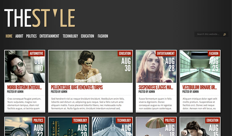 XXXXX - Best Magazine WordPress Theme 2013