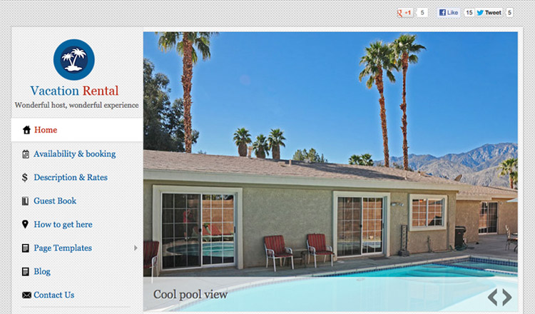 Vacation Rental - Best Real Estate WordPress Theme 2013
