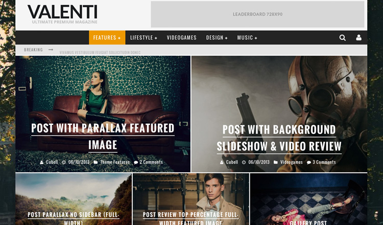 Valenti - Best Magazine WordPress Theme 2013