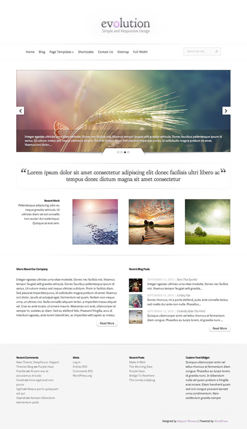 Evolution Premium WordPress Theme