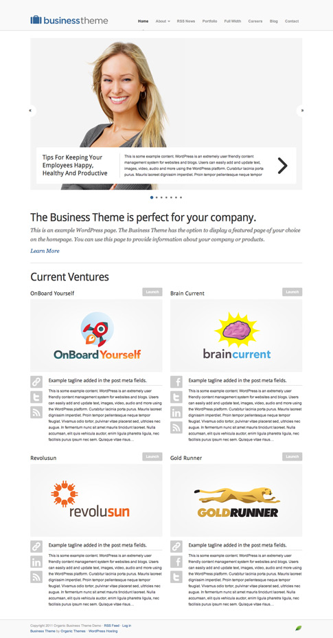 Business Premium WordPress Theme