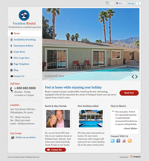 Vacation Rental Premium WordPress Theme