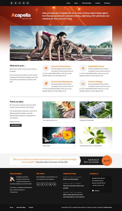 Acapella Premium WordPress Theme