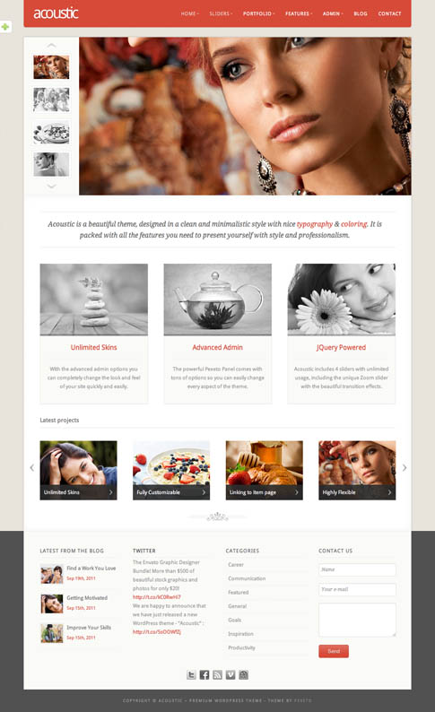 Acoustic Premium WordPress Theme
