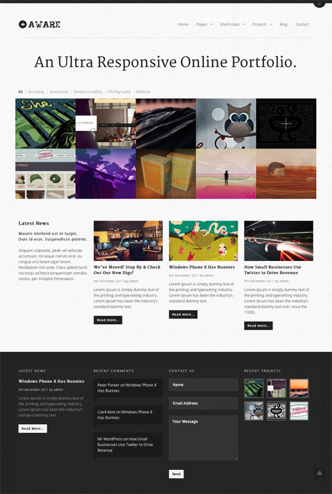 Aware Premium WordPress Theme