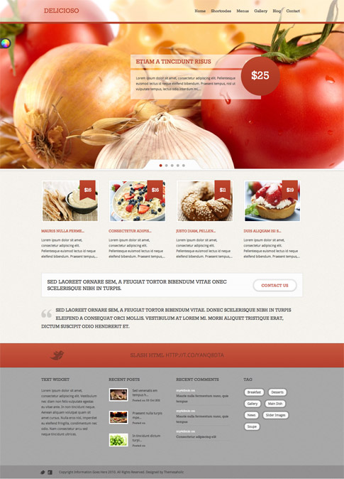 Delicioso Premium WordPress Theme