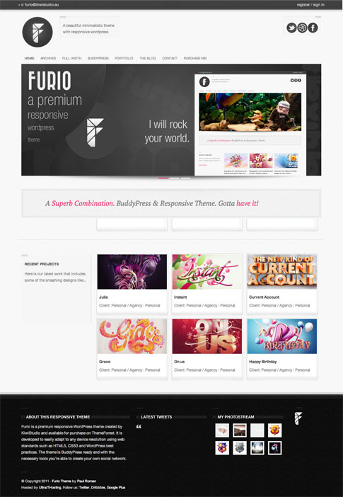 Furio Premium WordPress Theme