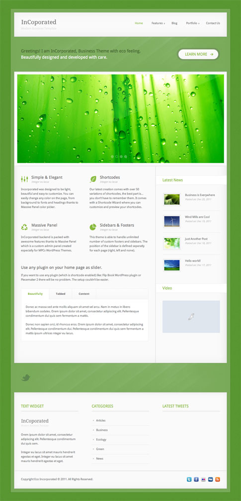 InCorporated Premium WordPress Theme