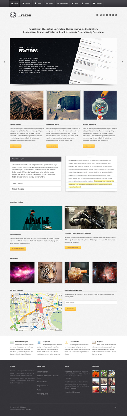 Kraken Premium WordPress Theme