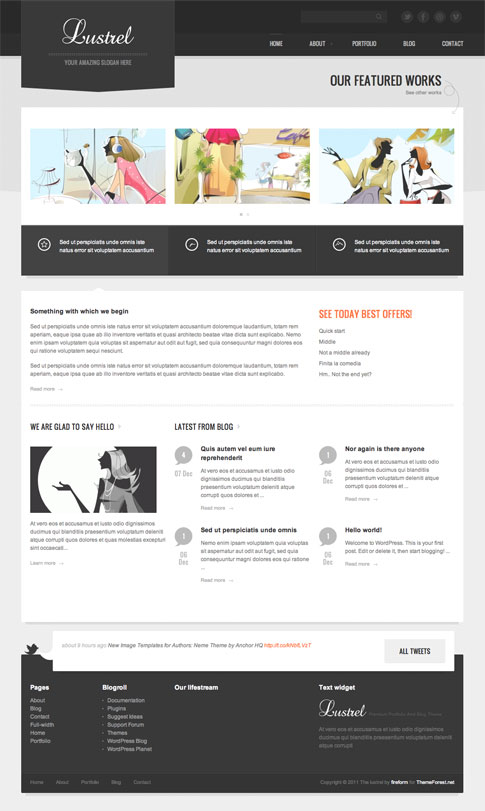 Lustrel Premium WordPress Theme