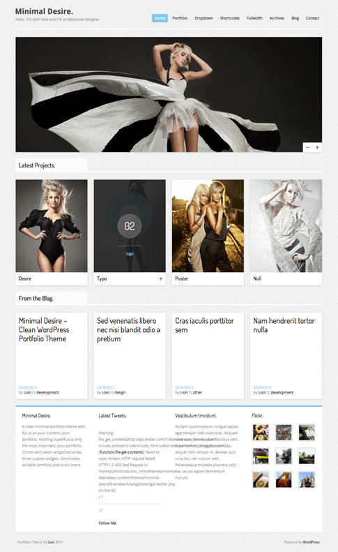 Minimal Desire Premium WordPress Theme