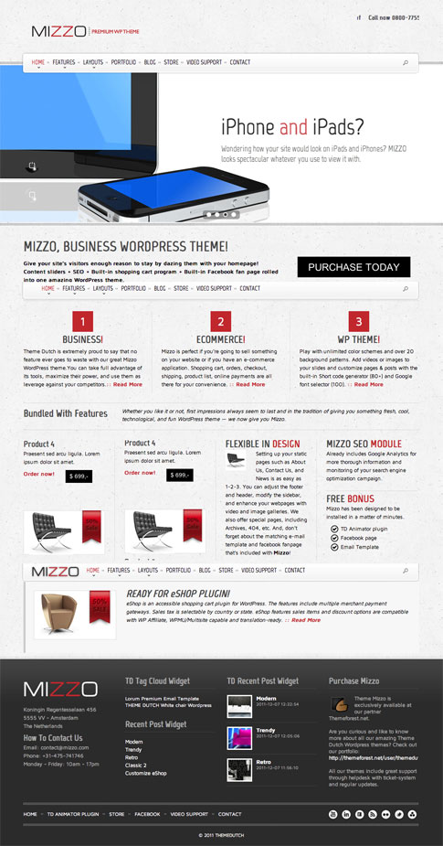MIZZO Premium WordPress Theme