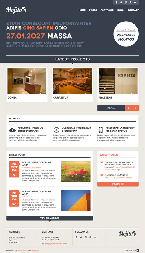 Mojitos Premium WordPress Theme