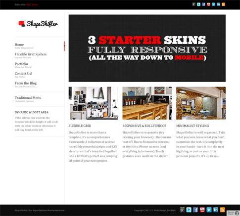 ShapeShifter 2 Premium WordPress Theme