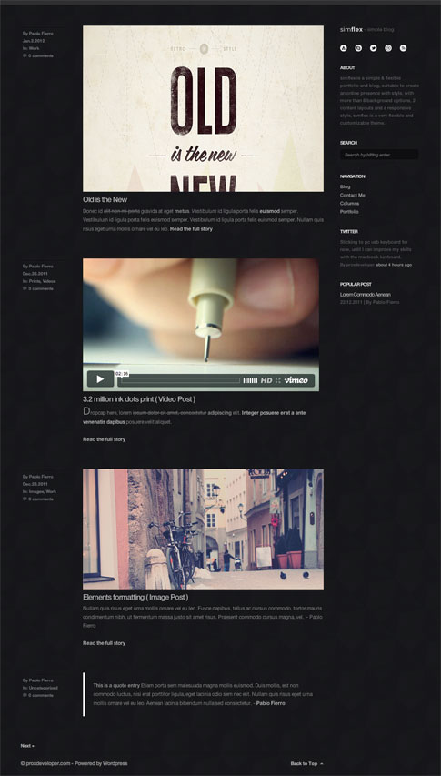 Simflex Premium WordPress Theme