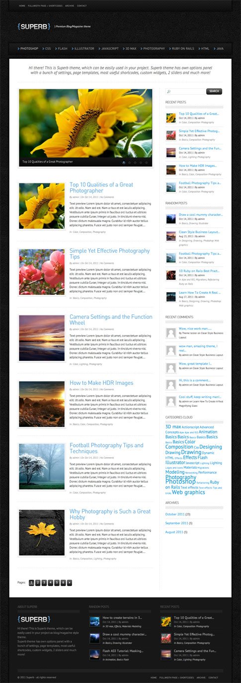 Superb Premium WordPress Theme