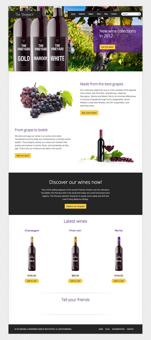 The Vineyard Premium WordPress Theme
