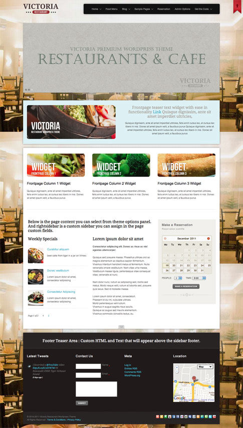 Victoria Premium WordPress Theme
