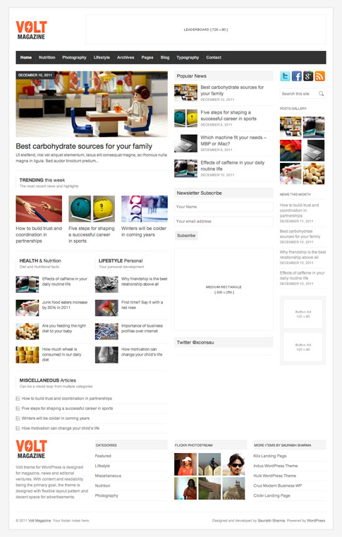 Volt Premium WordPress Theme