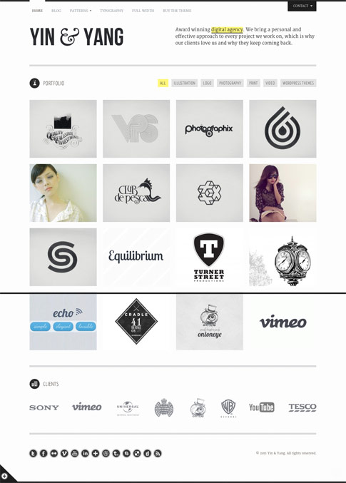 Yin and Yang Premium WordPress Theme