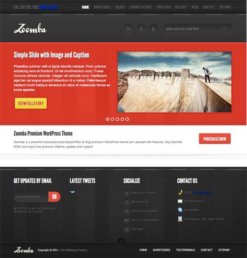Zoomba Premium WordPress Theme