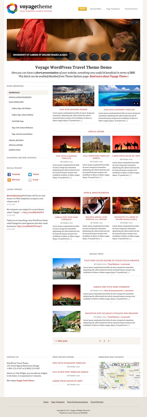 Voyage Premium WordPress Theme