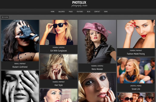 Photolux - Best Photography WordPress Theme 2012