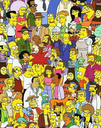 The Simpsons has a large community of characters